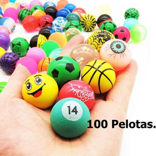 100 Pelotas Locas Saltarinas 27mm Para Chicleras