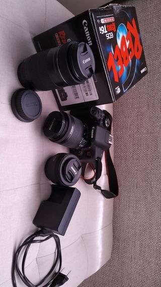 Câmera T6i Kit Com 3 Lentes