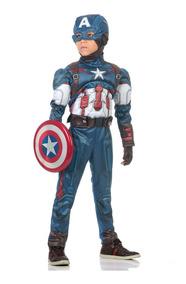 Fantasia Capitão América Infantil Peitoral - Avengers