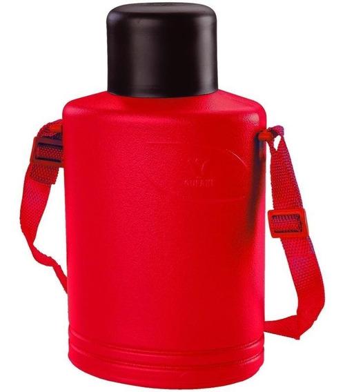 Cantil Térmico 1 Litro Com Alça Vermelho Gufani