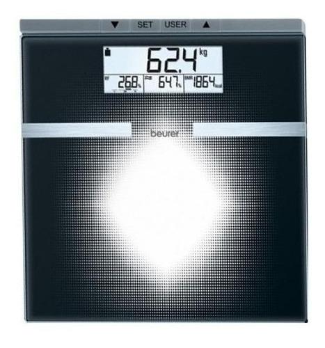 Imagen 1 de 2 de Báscula digital Beurer BG 21 negra, hasta 180 kg