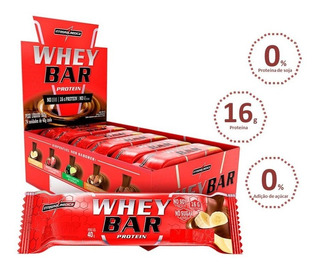 Whey Bar Protein Chocolate Caixa (24un De 40g Cada)