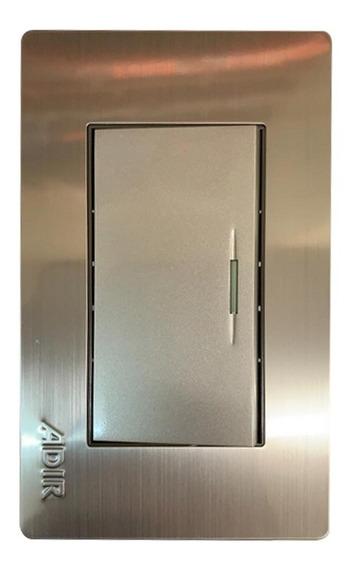 Placa Metalica 1 Apagador Sencillo Ad-4670 Accesorio Adir