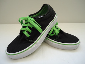 Tenis Van Off The Wall Authentic Preto Verde 35 Original
