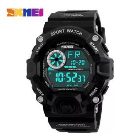 Relógio Skmei 1019 Masculino Militar Preto Digital Promoção