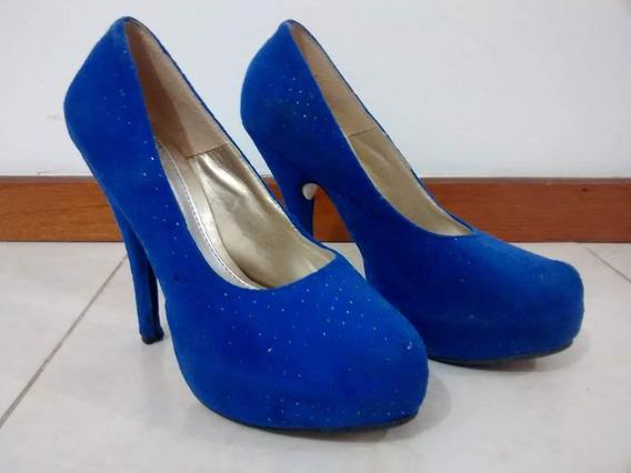 Zapato Stiletto Color Azul