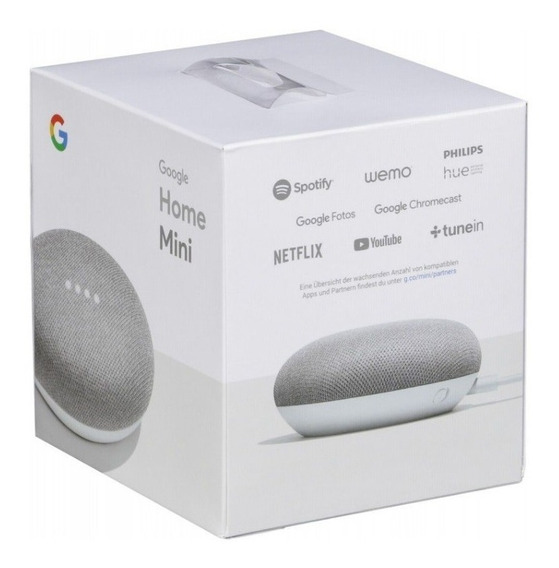 Caixa De Som Speaker Google Home Mini 2019 Português - Prata
