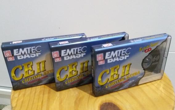 3 Fitas Cassete Basf Chrome Extra 2 Lacradas Frete Grátis :)