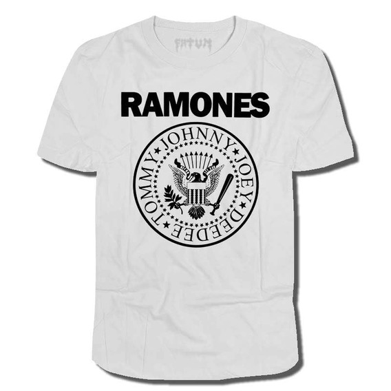 Camisa Ramones Branca Logo (punk/misfits/sex Pistols) Rock