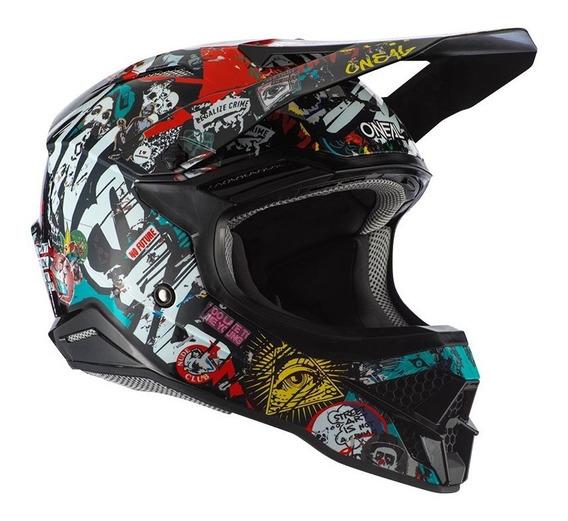Capacete Motocross Oneal 3series Rancid 2.0 - Multi