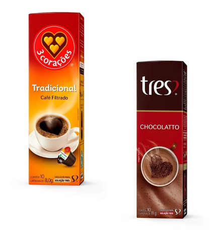 Kit 1 Chocolatto & 1 Café Tradicional 3corações