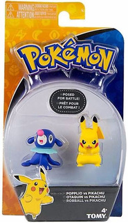Pokemon Popplio Vs Pikachu Tomy