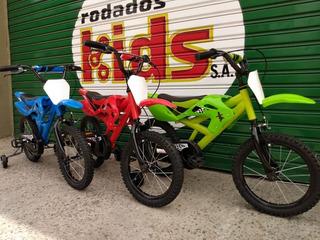 Bici Rodado 16 Bici Moto Cross Bicicleta Moto Niños