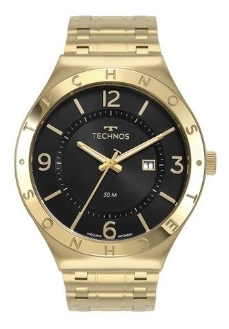 Relógio Technos Masculino Analógico Dourado 2117lbu/4p