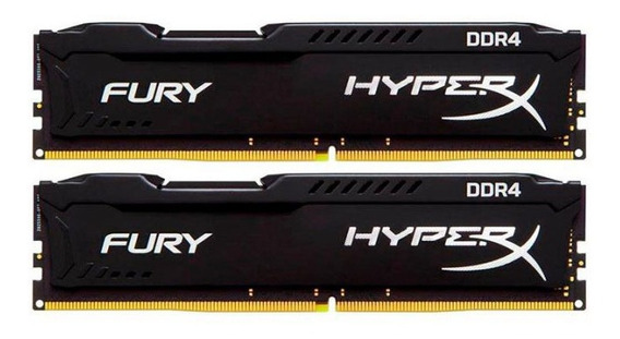Memória Kingston Hyper-x Fury 32gb (4x8) 2400mhz Ddr4