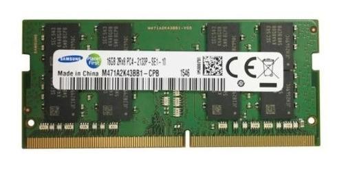 Imagem 1 de 4 de Memória Ram Nova 16gb 1x16gb Samsung 2rx8 M471a2k43bb1-cpb
