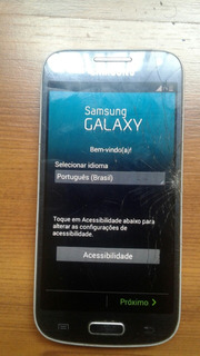 Smatphone Samsung S4 Mini (tela Trincada)
