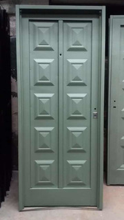 Puerta De Chapa Estampada Liviana Económica