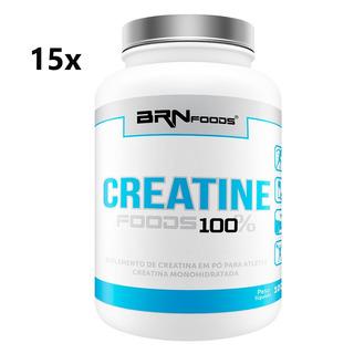 15x Creatina Foods 100% 100g - Brn Foods