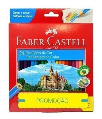 Lápis De Cor 24 Cores Sextavado Faber Castell