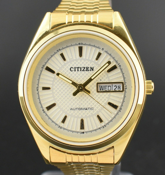 Reloj De Pulsera Marca Citizen Chapa De Oro Hecho En Japón