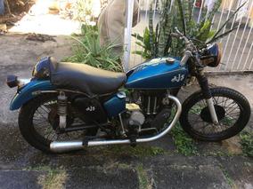 Motocicleta Clássica Ajs 500cs Modelo 18 1951 Única No País