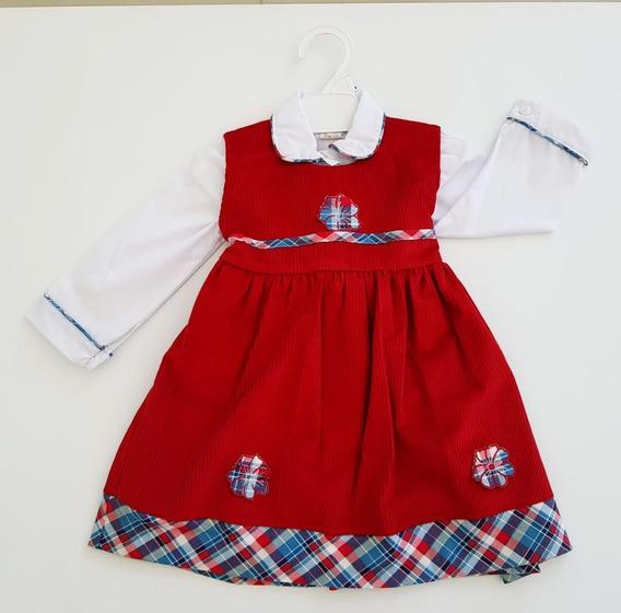 Vestido De Nena De Fiesta, Casual, Corderoy,diseño Exclusivo