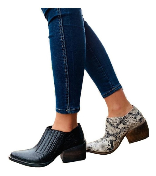 Zapatos Mujer Botas Botinetas Texanas Charritos Dama Moda 37