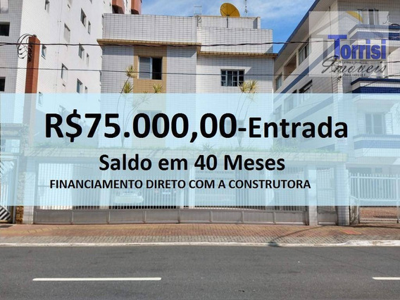 Apartamento Em Praia Grande, 01 Dormitório, Na V. Guilhermina, Ap2075 - Ap2075