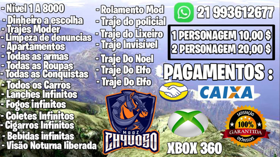 Conta Mod Gta 5 Xbox One - Games no Mercado Livre Brasil