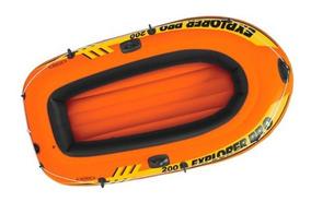 Lancha Inflable Explorer Remos Y Bomba 185x94x41 Cm Intex