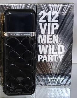 212 Vip Men Wild Party 100 Ml - Original Lacrado