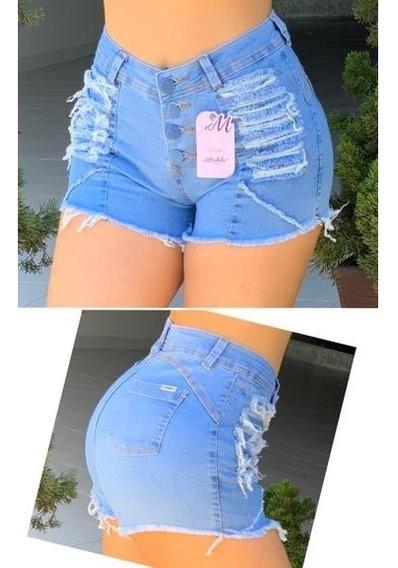 Shorts Jeans Com Cinto Feminino Mirabela