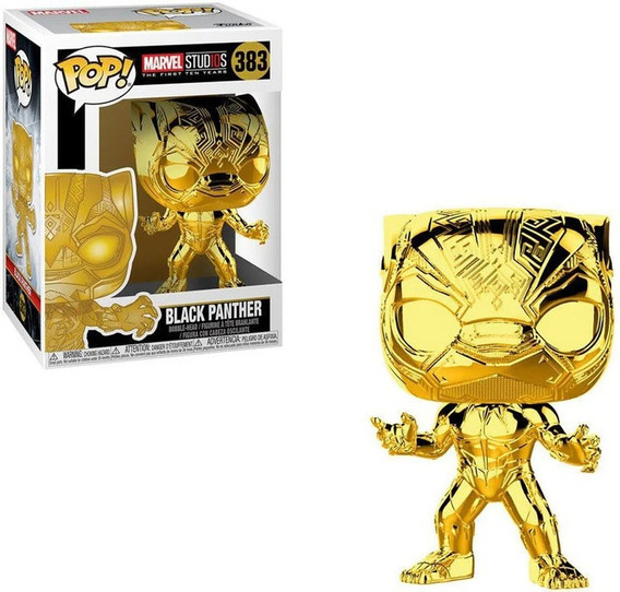 Funko Pop Marvel Chrome Pantera Negra 383