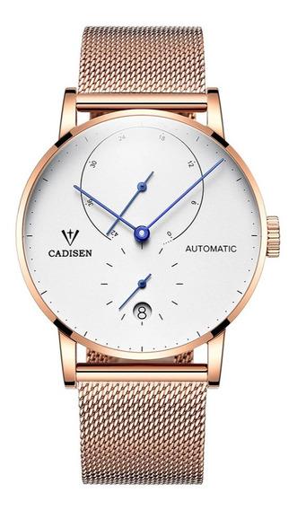 Reloj De Hombre Cadisen Automatico C1030p Zafiro /3gwatches