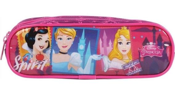 Estojo Escolar Duplo Infantil Princesas Disney Ref: 52095 -