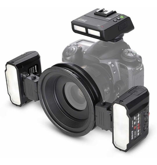 Flash Meike Macro Twin Lite Mk-mt24 Câmeras Nikon Slr
