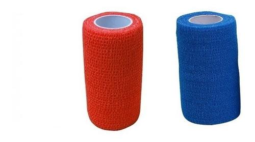 8 Ataduras Azul E Vermelhas Bandagem Elástica Bodybuilder