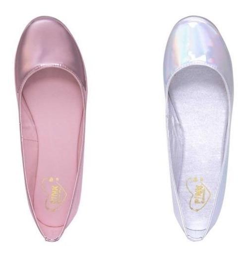 Zapatos Balerinas Tornasol Y Rosa De Mujer Kit De 2 Pares!!!