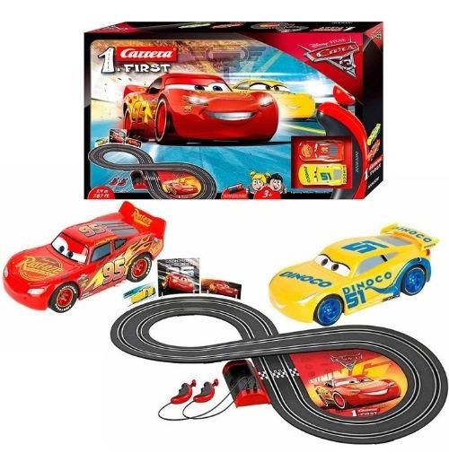 Caixa Autorama Pista Elétrica Disney First Cars 3 Carrera