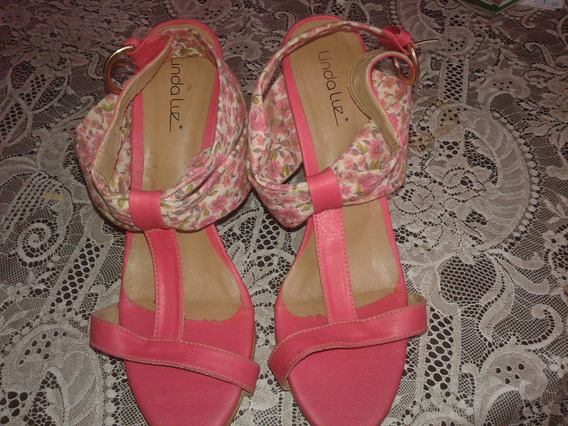 Sandalia Floral Salto Alto