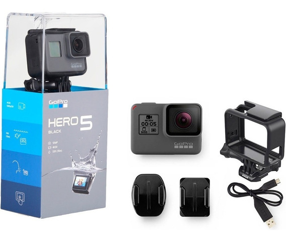 Gopro Hero 5 Black 4k 12mp Kit Impermeable Pantalla Táctil