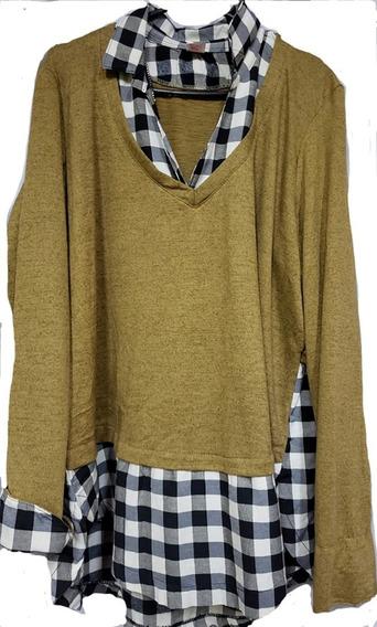 Camisa Viyela Superpuesta , Sweater Lanilla T 4 Al T 10