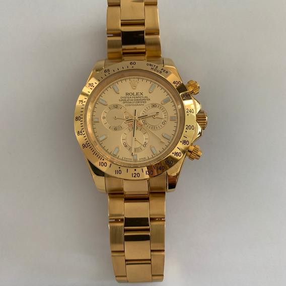 Reloj Rolex Daytona Dorado Automatico Con Caja204r