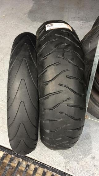 Pneus 120/70/17 E 170/60/17 Michelin Usados Stilo Motard