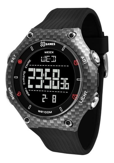 Relógio X-games Masculino Digital Xmppd567 Negativo Carbono