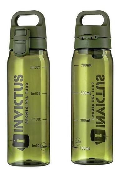 Garrafa Squeeze Invictus Atomic Em Trita Verde 830ml