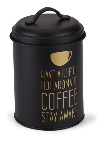 Pote Redondo De Metal Para Café - Ótimo Acabamento E Estilo