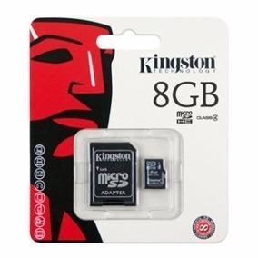 Cartão De Memória Kingston 8gb Micro Sd 2x1 Original.