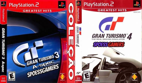 Gran Turismo Ps2 3 E 4 ( Carros ) Coleção (2 Dvds) Patch
